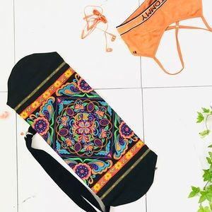 Handbags - Authentic Yoga Mat Bag Embroidered- Thailand